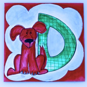 Annabelle's Alphabet /The letter D in a series of alphabet letters mailed daily to Granddaughter Annabelle  found at 1ArtHouse.wordpress.com