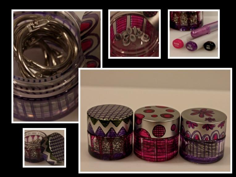 Alcohol Inks & repurposed makeup jars