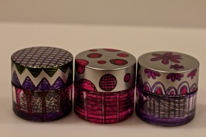 Alcohol Markers & Re-purposed Make Up Jars