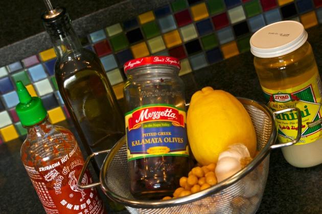 Kalamata Olive Hummus Tutorial