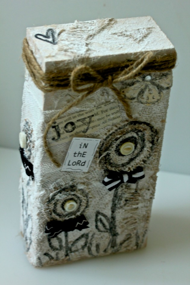 Mixed Media Wood Block