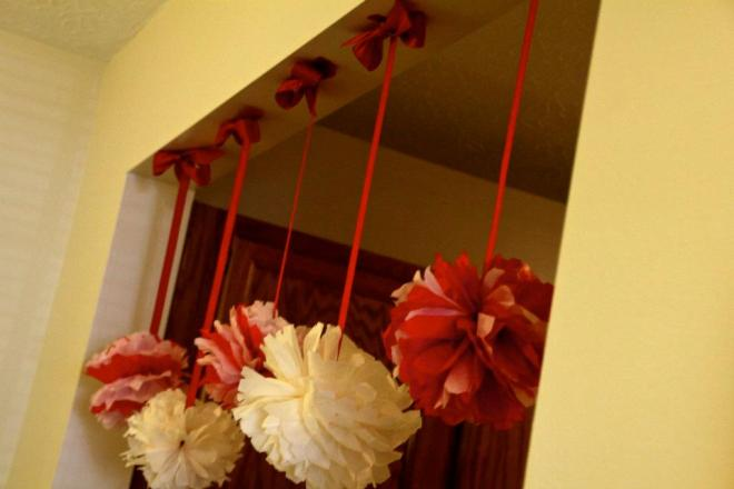 Ribbon:pompoms