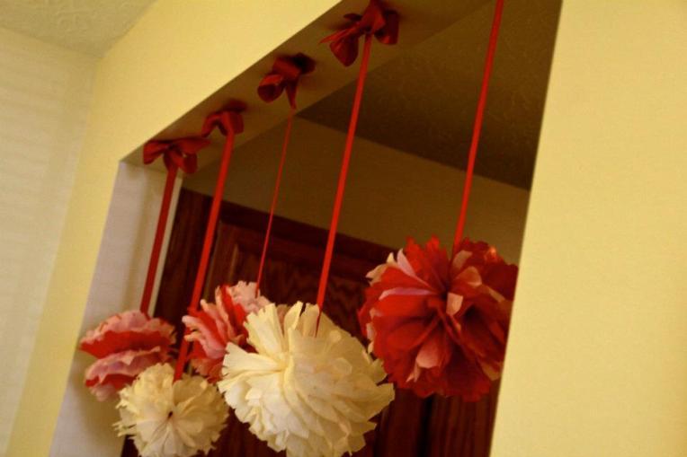 Ribbon:pompoms