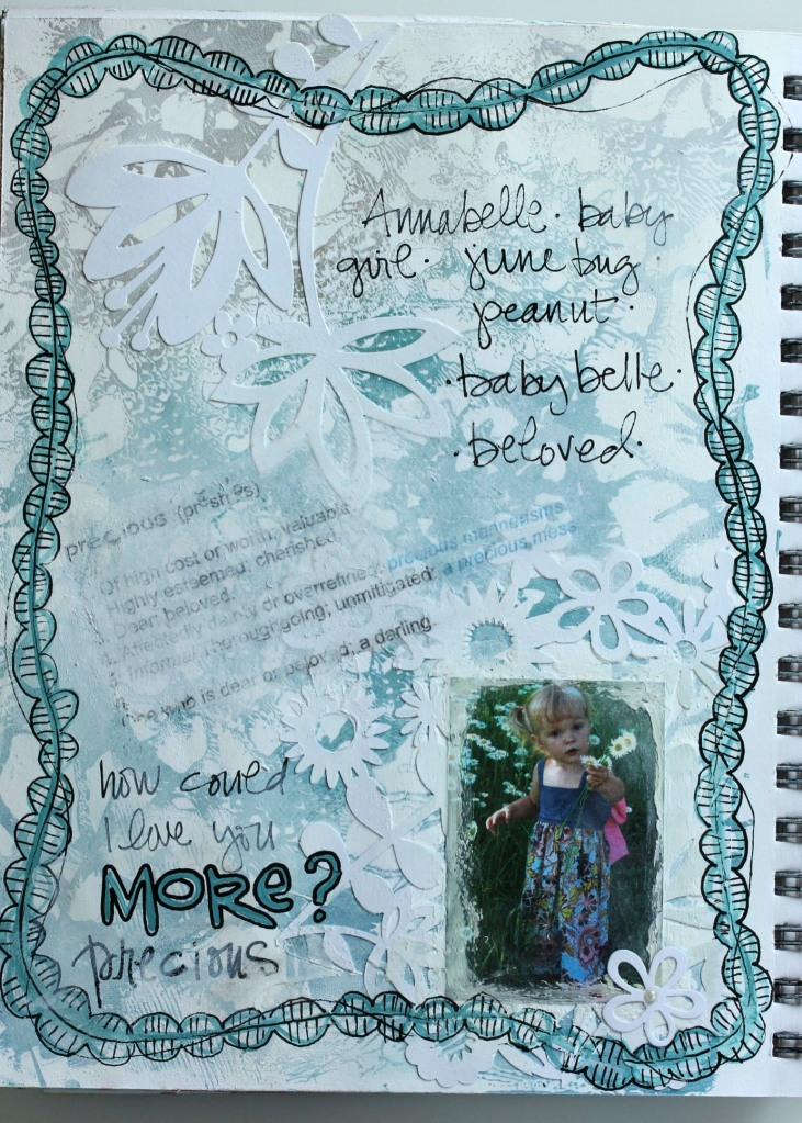 Doodling with Gelli Plate Background