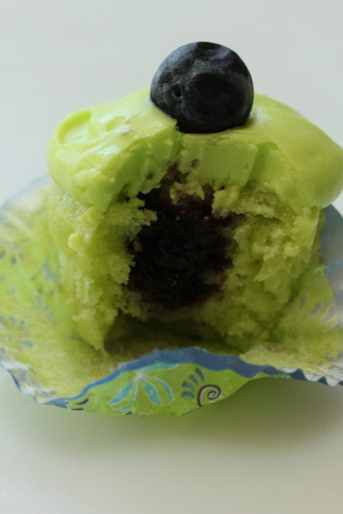 Easy Lime Blueberry Cupcakes
