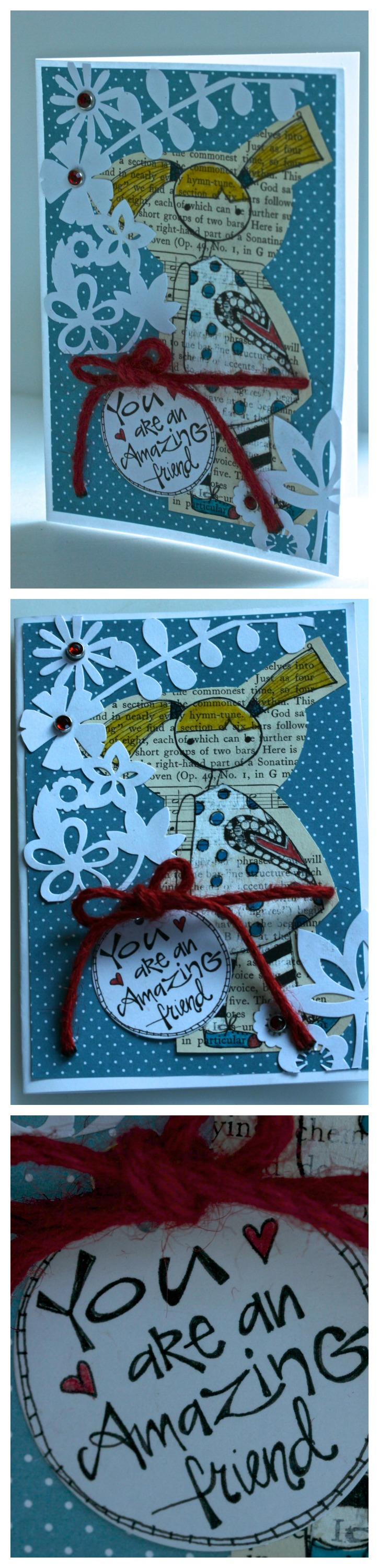 Vintage Book Page Card