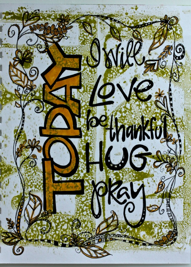 Distress Ink Gelli Plate Background