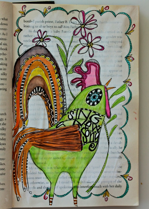 Repurposed Vintage Book turned Art Journal