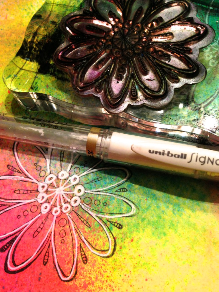 Dylusions Spray Ink Page Tutorial