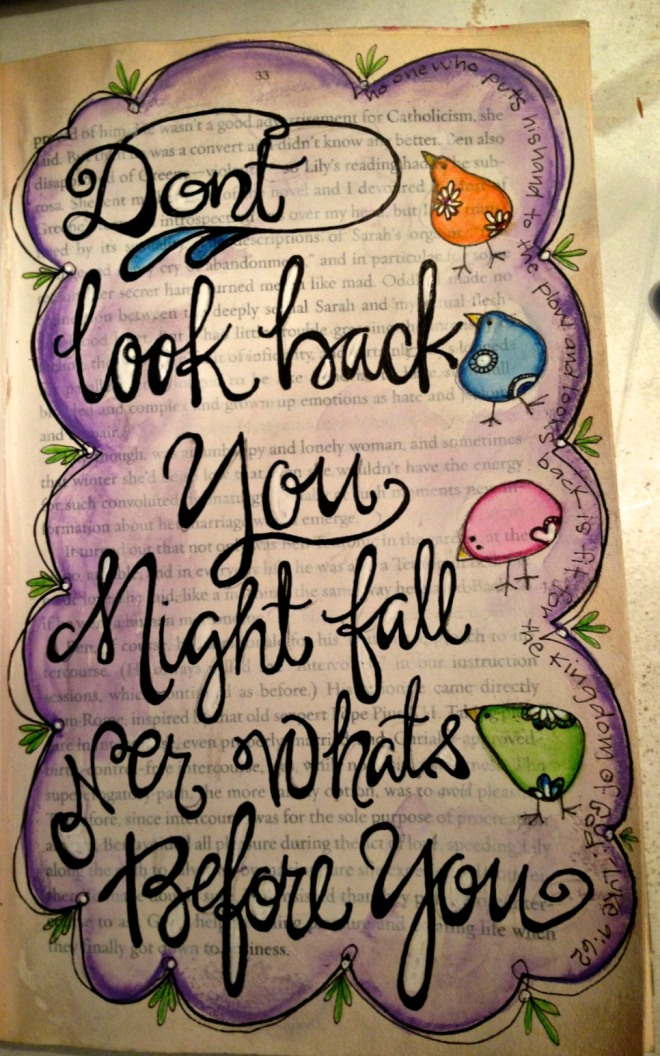 Repurposed Book : journalpage-don't look back
