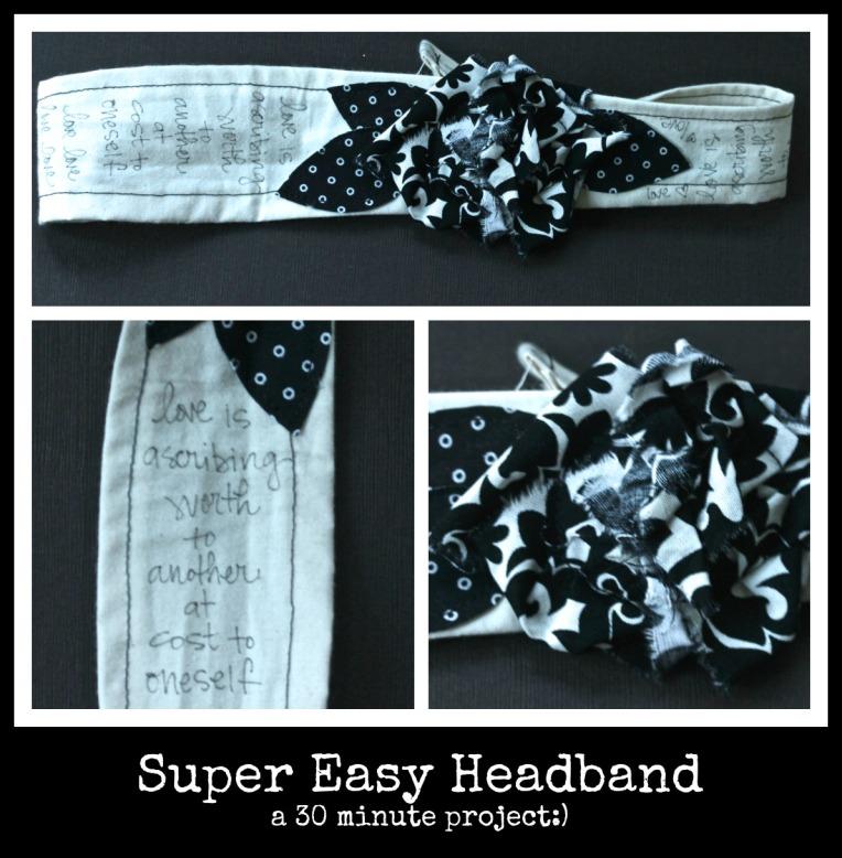 Super Easy 30 Minute Headband