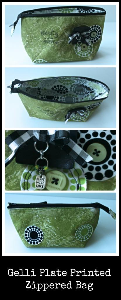Gelli Plate Printed Zippered Bag