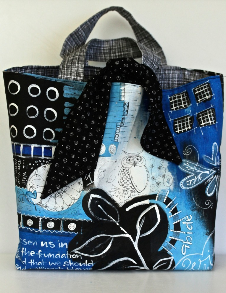 Easy Sew Painted Tote Bag