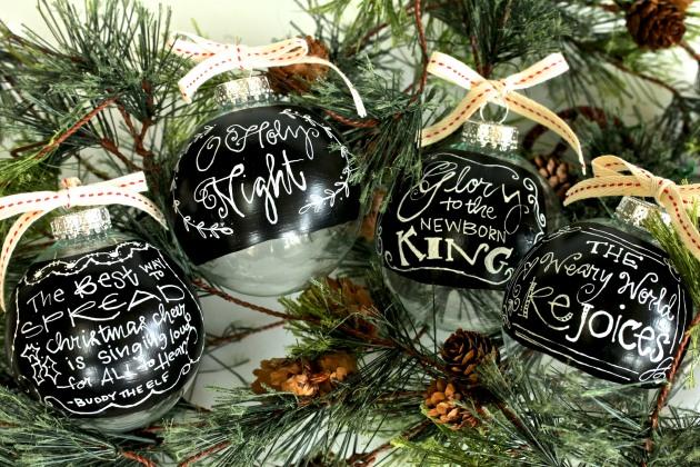 Chalkboard Paint Ornaments