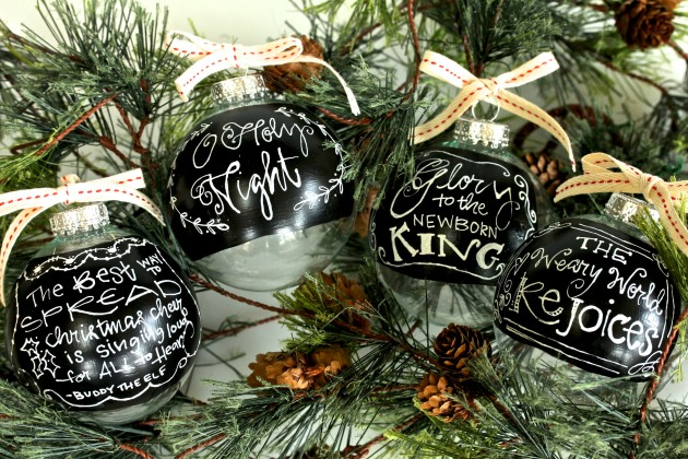 Chalkboard Paint Ornaments