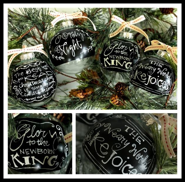 Chalkboard Paint Ornament