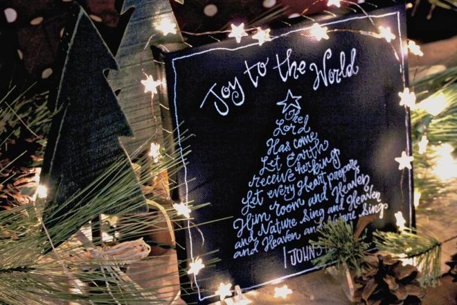 CHristmas Chalkboard Canvas