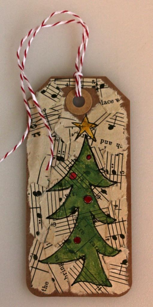 Christmas Tags with Silks