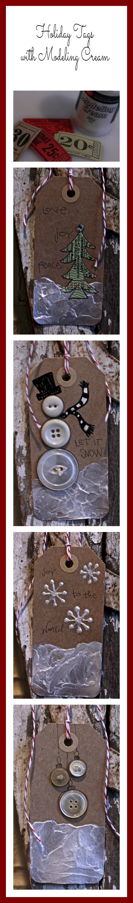 Holiday Tags with Viva Decor's Modeling Cream