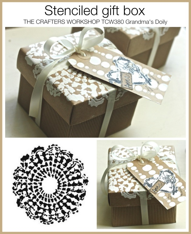 TCW Stenciled gift box
