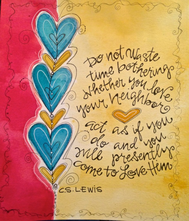 C.S. Lewis inspired watercolor/Sue Carroll