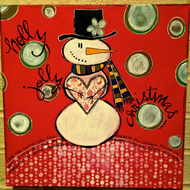 Christmas mixed media/Sue Carroll