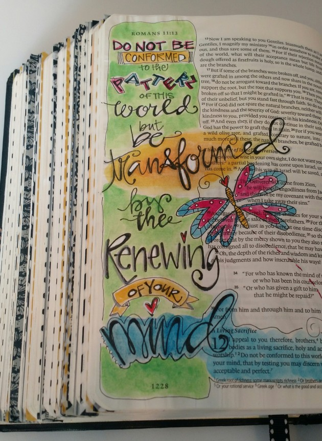 BAJ:Bible Pages: ROM:BE TRANSFORMED:Sue Carroll