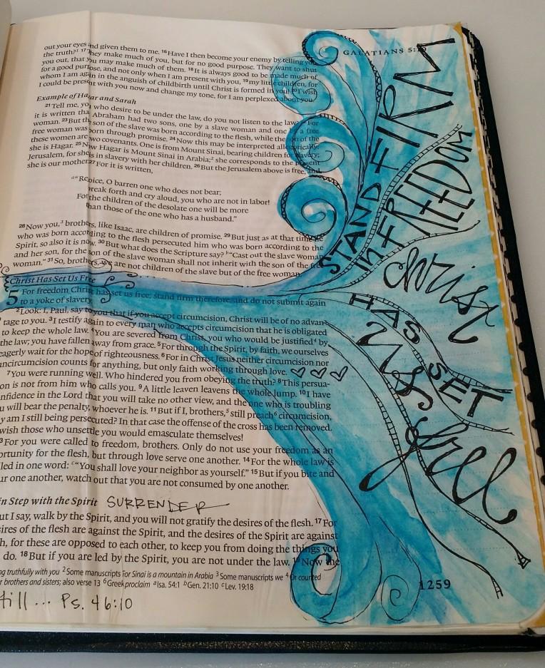 BAJ:Biblepages:Galatians 5:BEAUTIFUL:Sue Carroll