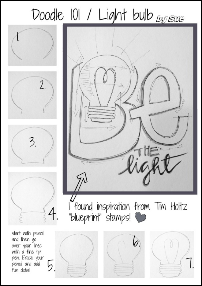 BAJ:Doodle 101: Light Bulb: Sue Carroll
