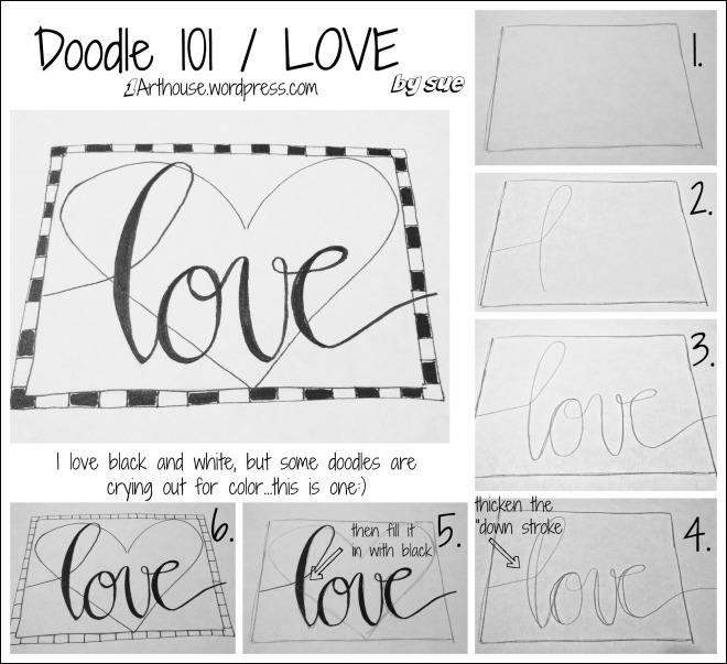 BAJ:Doodle 101:LOVE:PM:Sue Carroll