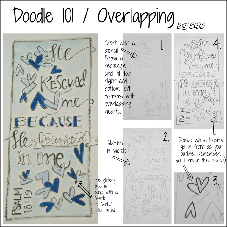 BAJ:Doodle 101:Overlapping:Psalm:PM:Sue Carroll