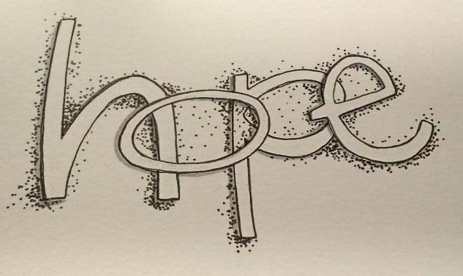 BAJ:Doodle101:HOPE:lettering9:Sue Carroll
