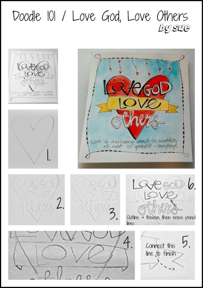 BAJ:Doodle101:PM:LoveGodLoveOthers:Sue Carroll