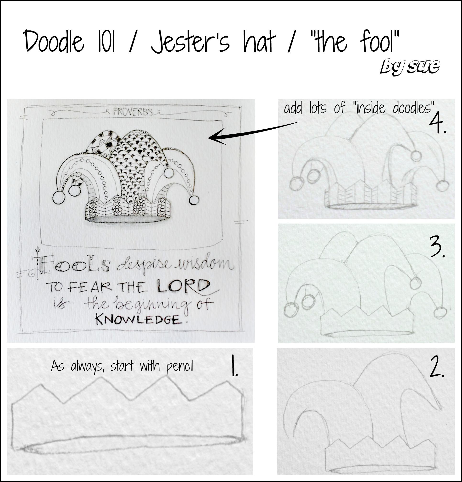 BAJ:Doodle101:Proverb:Fools:PM:Sue Carroll