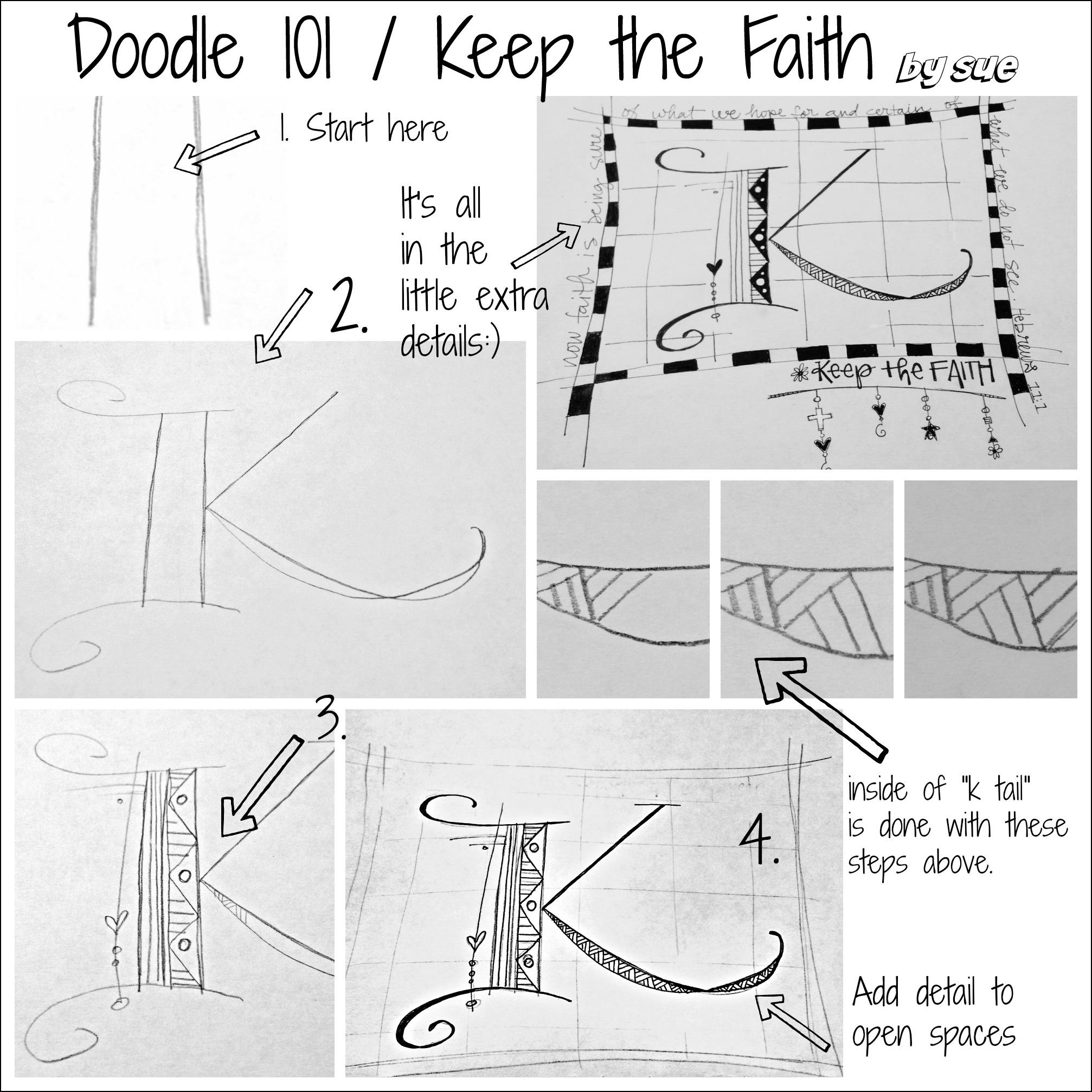 BAJ:Doodles 101: Keep the Faith:PM: Sue Carroll