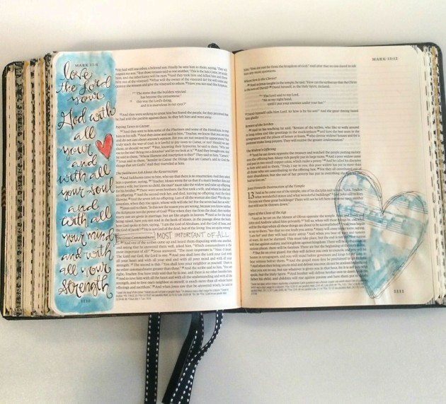 Bible Art Journaling/ Love the Lord/ Sue Carroll