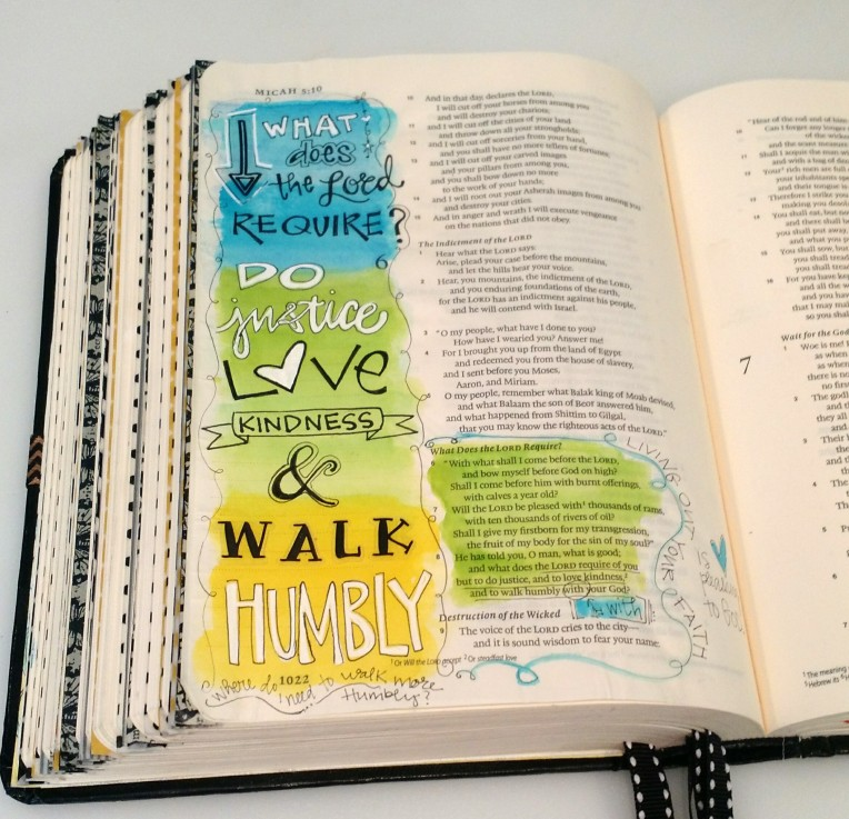Bible Art Journaling/Micah/Sue Carroll