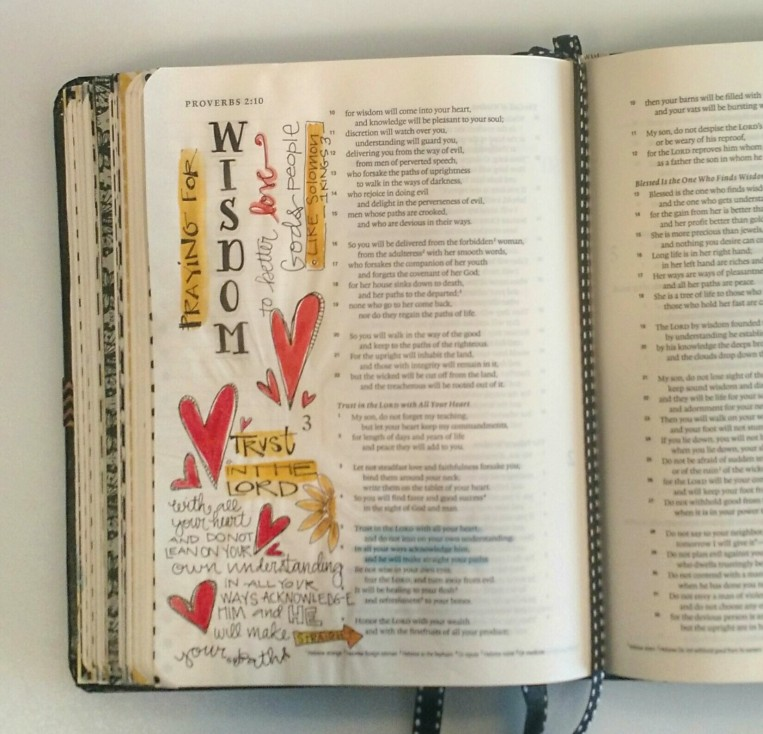 Bible Art Journaling/Proverbs/Sue Carroll