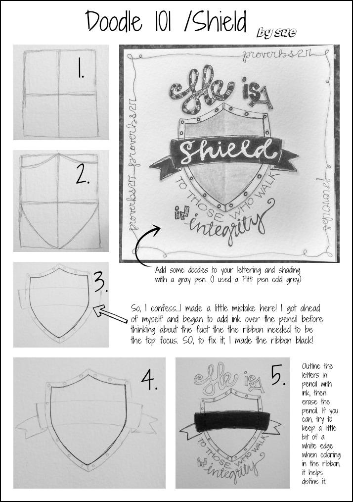 BAJ:Doodle101:Shield:PM:Sue Carroll