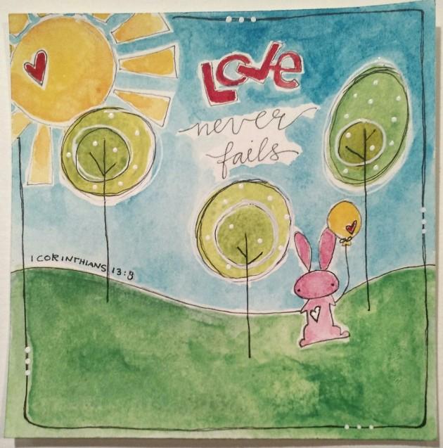 BAJ/Doodle101/Love never fails/ Sue Carroll