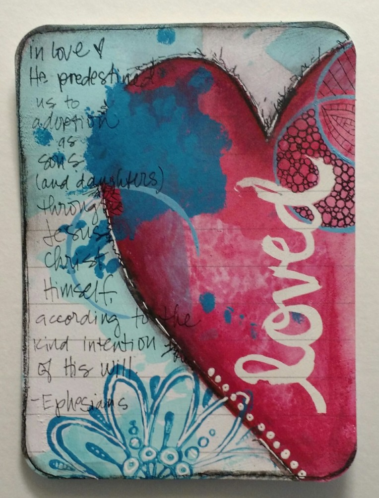 BAJ:mixedmedia:projectlifecards:loved:Sue Carroll