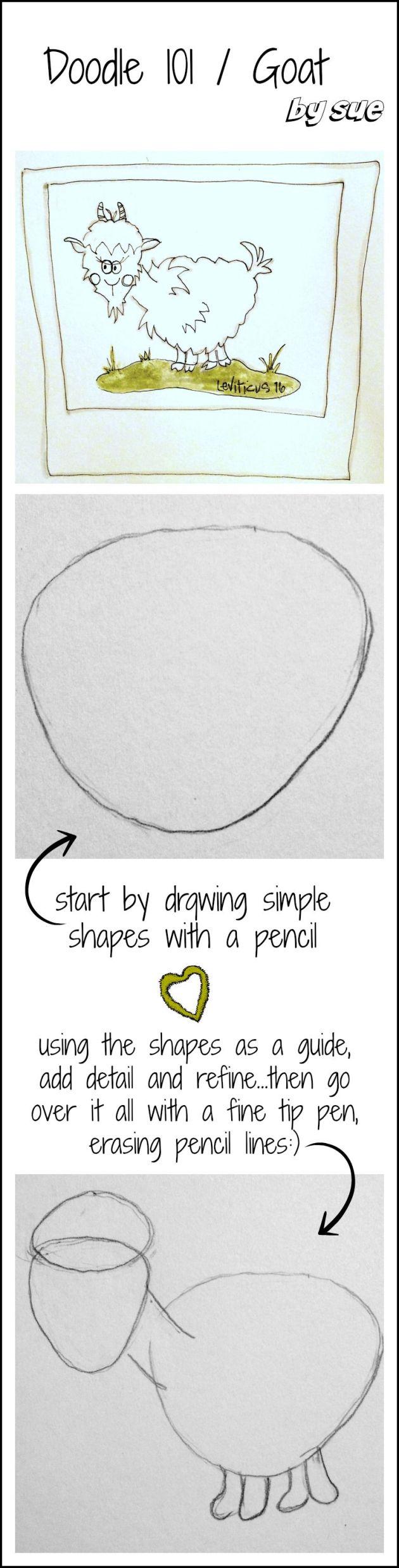 BAJ/ Doodle 101/ Goat / Sue Carroll