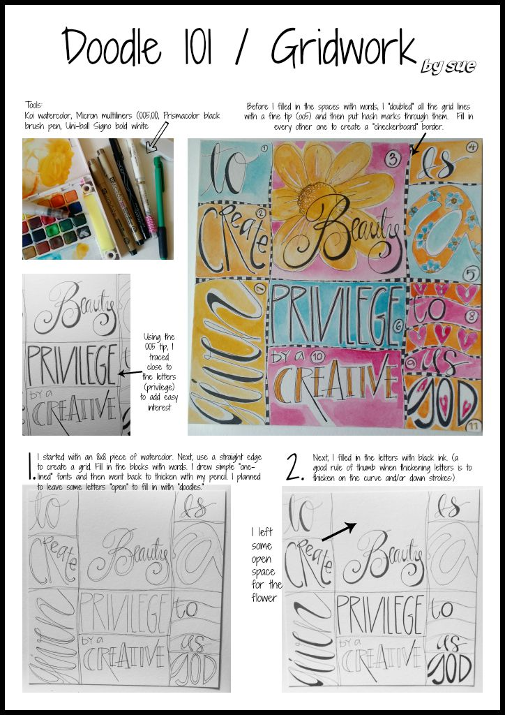 Doodle101/Grid Work/Sue Carroll