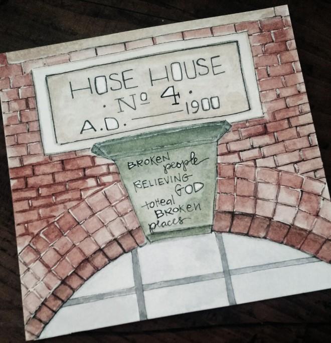 Hose House:closeup