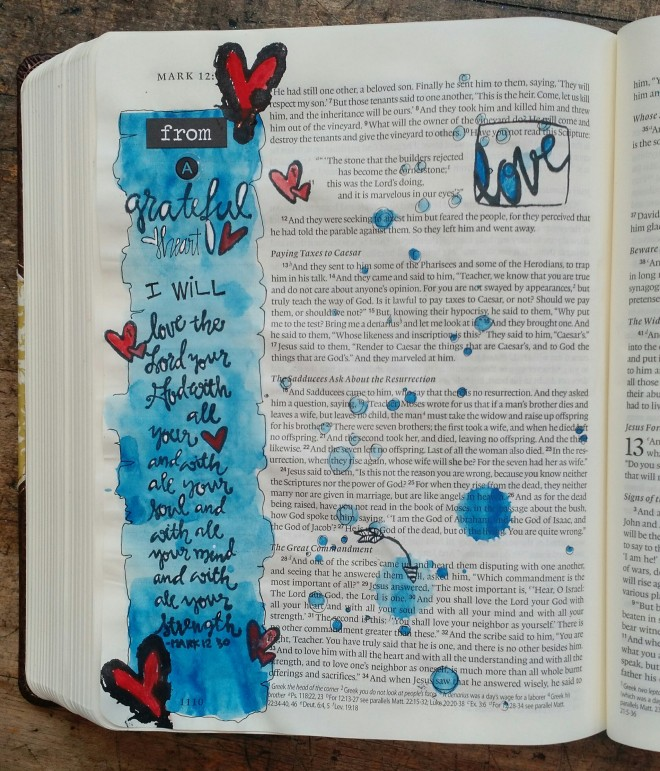 BAJ:etsy:Mark:lovetheLordyourGod:Biblepage:SueCarroll
