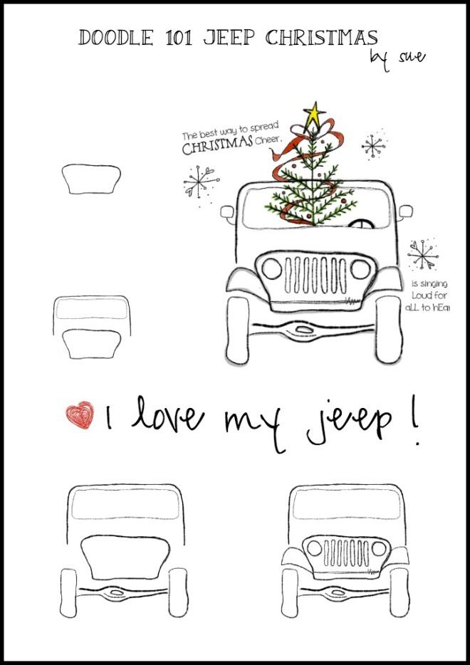 Doodle101:jeepChristmas:SueCarrollpm