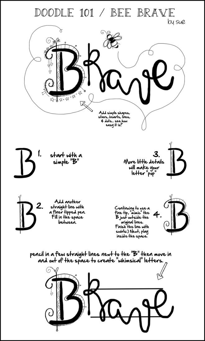 Doodle101BeeBraveSueCarroll