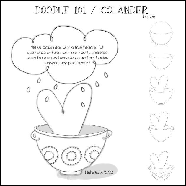 Doodle101colander/Sue Carroll