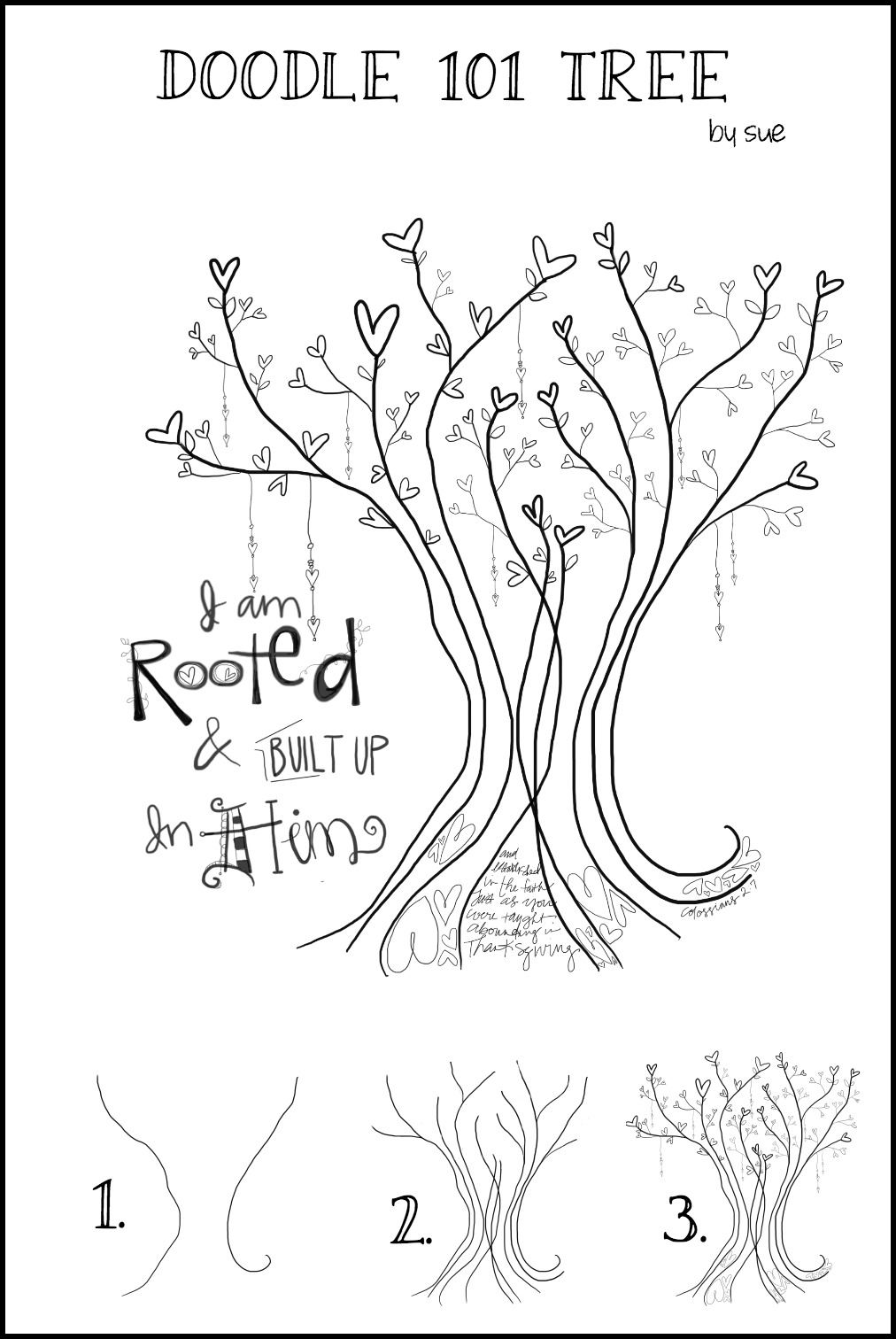 """Doodle 101 """"Rooted in Christ"""""""