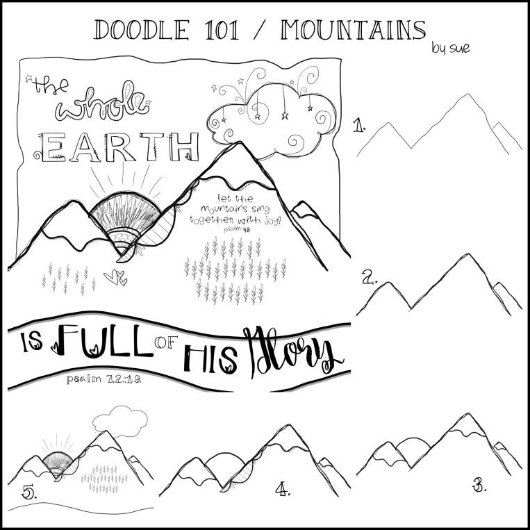 DOODLE101:Mountains/SUECARROLL